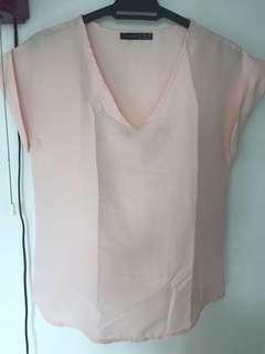 Blush pink loose top