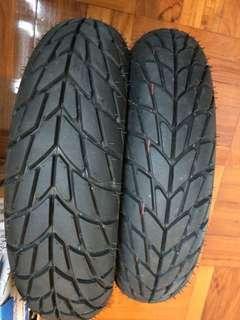 """110/70-11"""" Front & 120/70-11"""" Rear Tyre Vespa"""