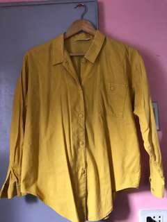 Mustard Yellow Button Down