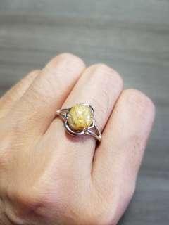 金髮晶 2 戒指 水晶