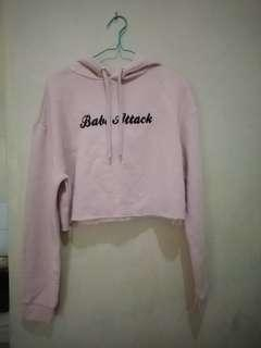 Cropped Jacket H&M Babe Attack soft pink ORI