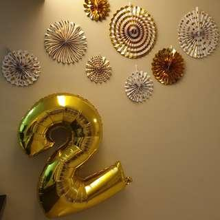 Gold Foil Balloon (40inch / 1meters)