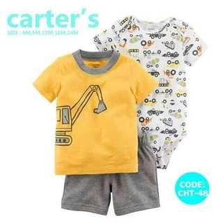 Carter's Baby 3pc Terno Set - CHT48