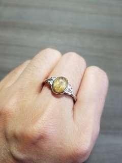 金髮晶 3 戒指 水晶