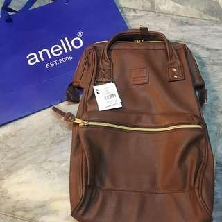 Anello leather backpack (brown)