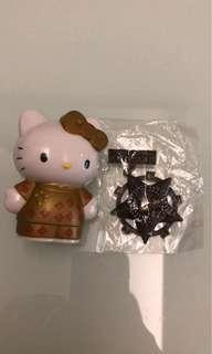 Hello Kitty figure and Kitty Lab 襟章