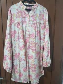 Blouse pink bunga2
