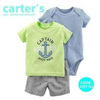 Carter's Baby 3pc Terno Set - CHT52