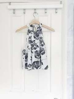 Cute floral sleeveless top