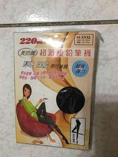 超激瘦 黑色褲襪 220丹