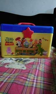 🚚 玩具總動員雙層手提箱 收納箱 日本正版
