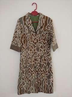 Dress Batik mega mendung hijau