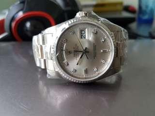 Vintage Rolex President 18039 18K white Gold