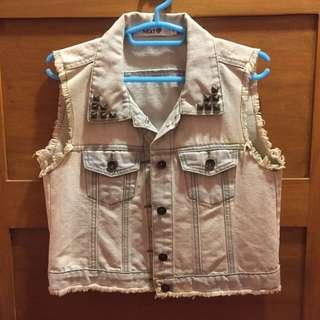 Next Denim Sleeveless Jacket