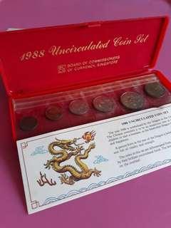 1988 Dragon Uncirculated  coins set