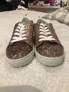 Rose Gold Sparkly Sneakers