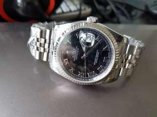 2006 Rolex 116234 Black Roman marker dial