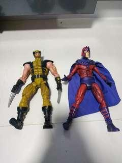 Marvel legends xmen wolverine and magneto 1/6