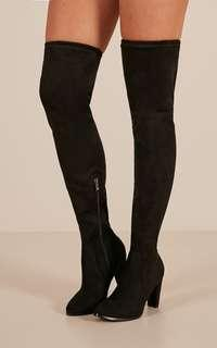 Therapy Black Knee High Boots