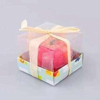 Apple candle w/ gift box