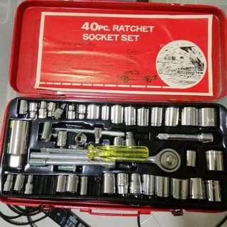 40pc Ratchet Socket for Car and Motorcycle repair