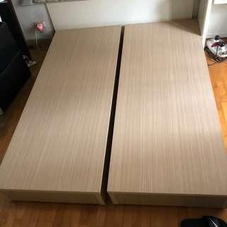 「優質木雙人床架」出清!