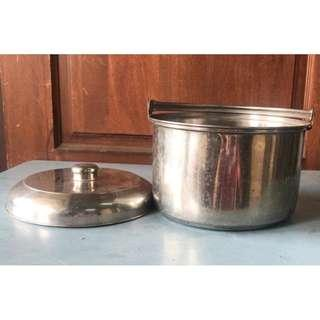 Stainless Steel Stock-Pot w/Cover 25 cm * 8-10 Y