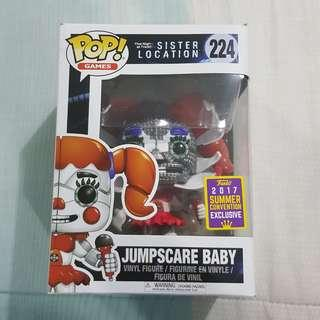 Legit Brand New With Box Funko Pop Games Five Nights At Freddy's Sister Location Jumpscare Baby Toy Figure 2017 Summer Convention Exclusive