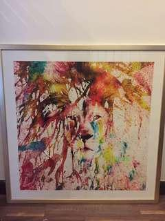 Colourful Lion Abstract Painting