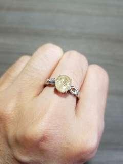 金髮晶 5 戒指 水晶