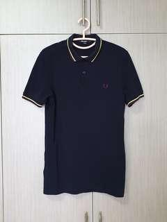 Preloved Fred Perry Slim Fit Twin Tipped Polo Shirt