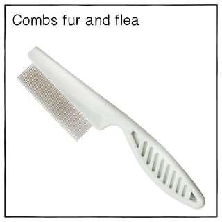 """White"" Flea Fur-Comb"