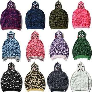 A Bathing Ape First Camo Full Zip Hoodie (All colours)