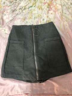 🚚 圓環褲裙 深灰色