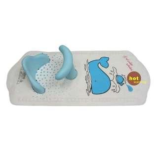 SMT BABY BATH SEAT WITH MAT, BLUE