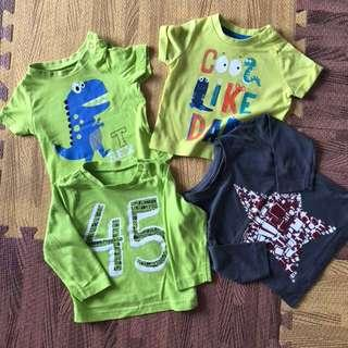 4x Mothercare T-shirts, 3-6 months
