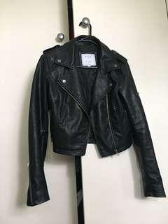 Neon hart biker jacket
