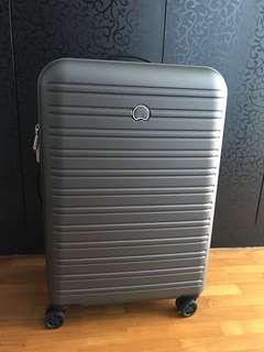 "Brand new Delsey 28"" 4 wheels hard case luggage for sake"