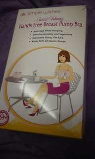 Hands free breast pump bra