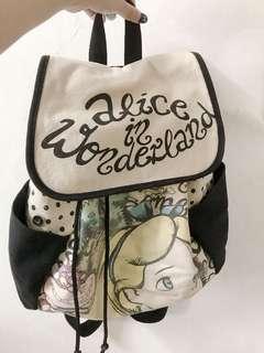 🚚 免運 正品 美國迪士尼 愛麗絲後背包