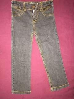 Faded black denim jeans