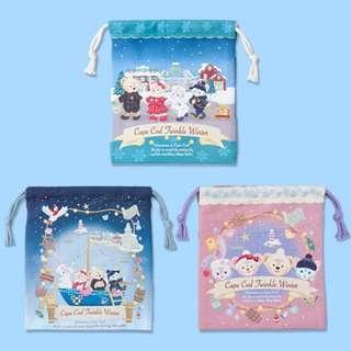 Tokyo Disneysea Disneyland Disney Resorts Sea Land Cape Cod Twinkle Winter 2018 Duffy & Friends Drawstring Preorder