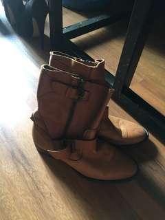 Leather boots zara original