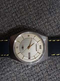 Rare VINTAGE CITIZEN AUTOMATIC 21J 8200A JAPAN MADE MEN'S WATCH