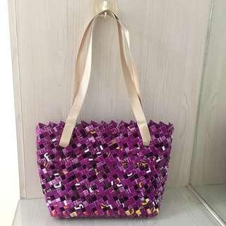 Handmade shoulder bag/ shopping bag