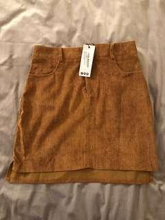 NEW Tan suede skirt