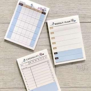 Planner Sticky Note (Monthly / Weekly / Checklist)