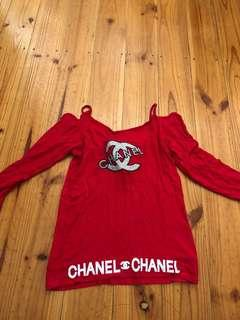 Fake Chanel Red top