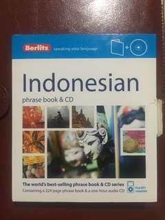 Indonesian Phrase Book & CD kinokuniya Kamus