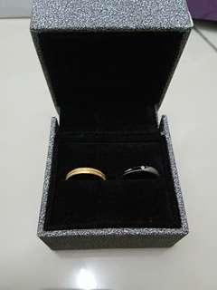 Combo 916 gold n white gold with diamond